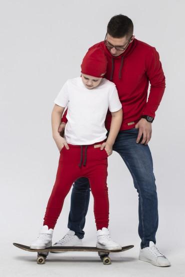 Tata i syn - zestaw męskiej bluzy i spodni baggy dla chłopca