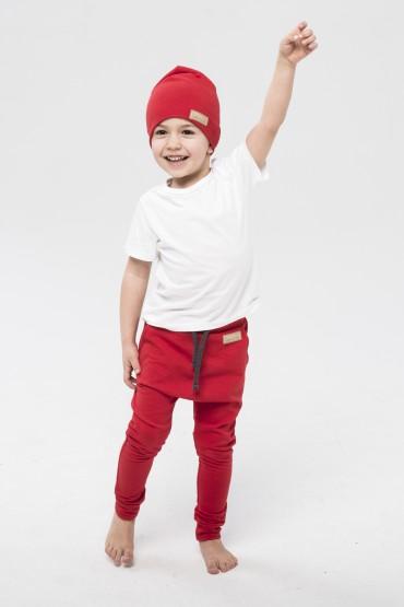 Spodnie baggy dla chłopca i dziewczynki - czerwień