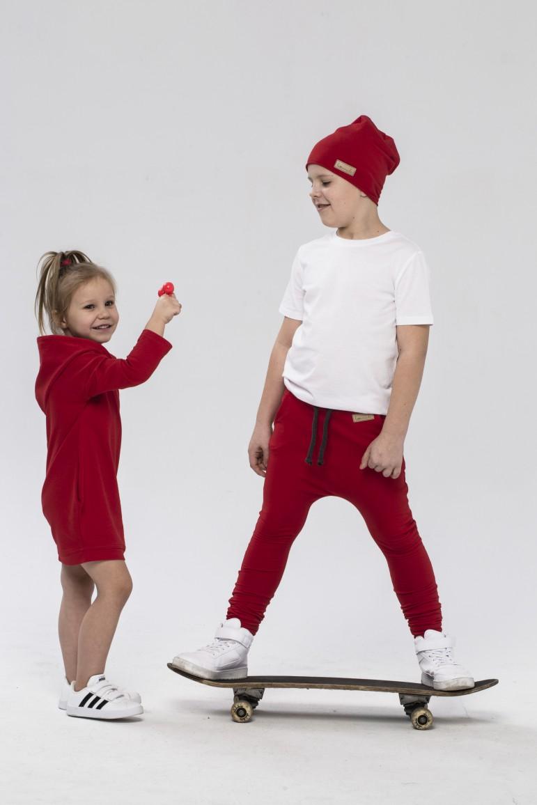 2Zestaw bluza/tunika i spodnie baggy dla dziewczynki