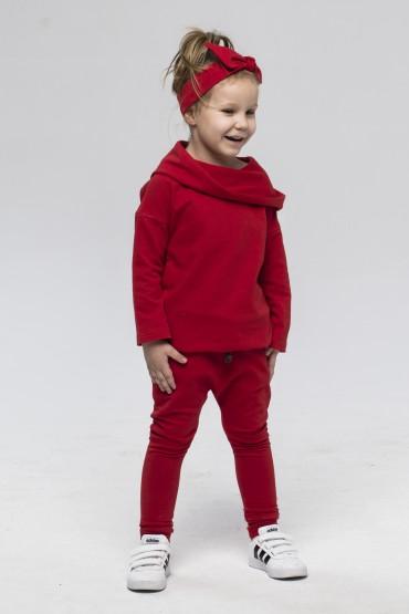 Zestaw bluza/tunika i spodnie baggy dla dziewczynki