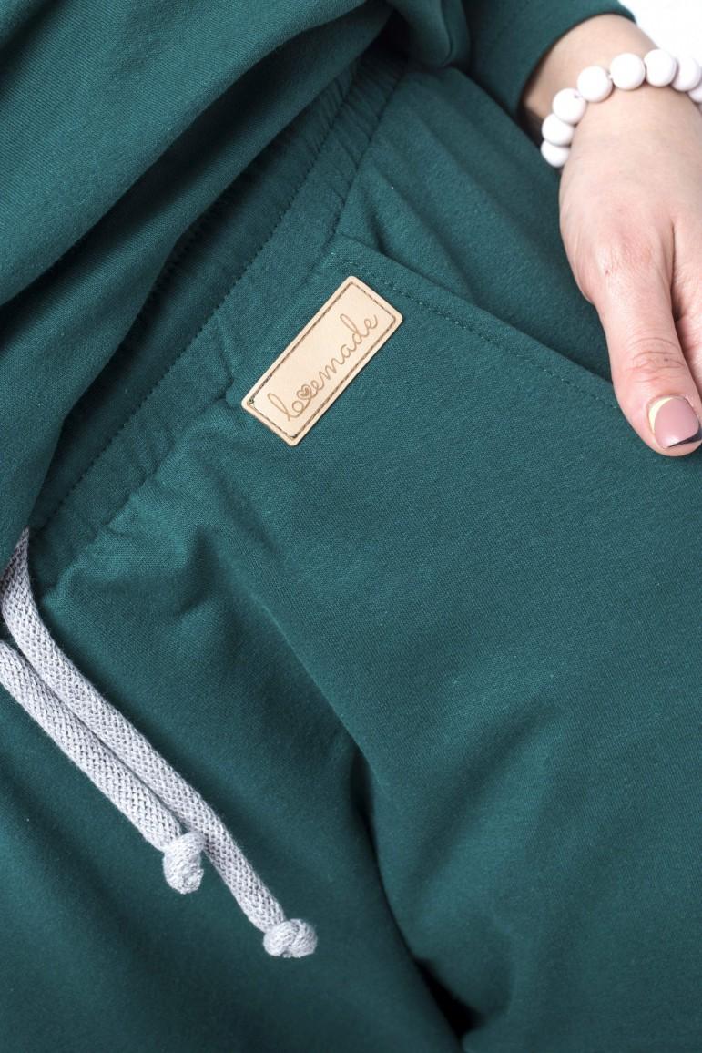 2Damskie spodnie baggy - zieleń