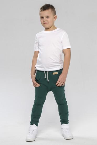 Spodnie baggy dla chłopca i dziewczynki - zieleń