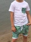 2T shirt dla chłopca z kieszonką