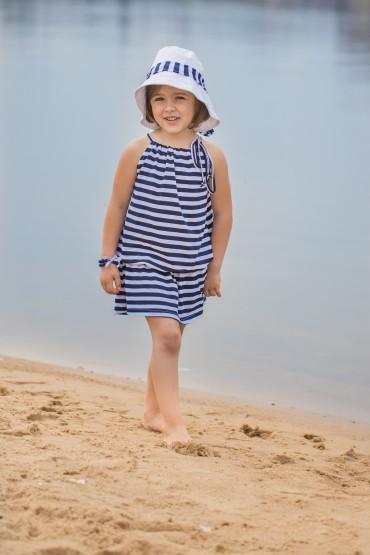 Letnia sukienka dla dziewczynki w paski