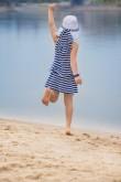 2Letnia sukienka dla dziewczynki w paski