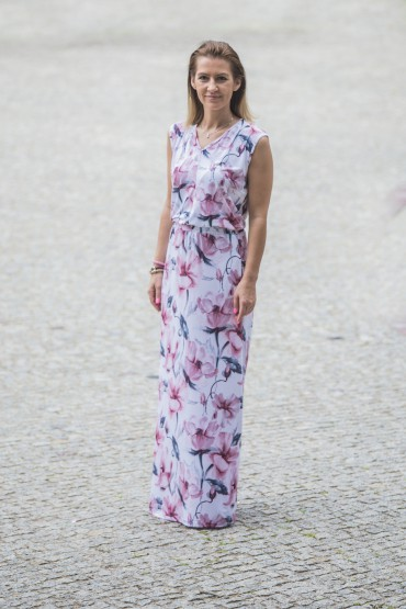 Sukienka maxi w magnolie