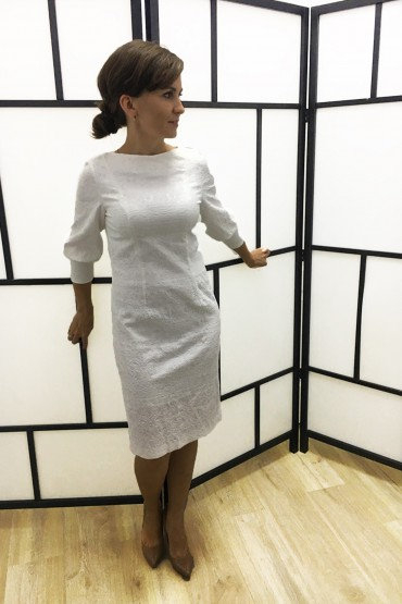 Sukienka damska Królewska Perła Ecru