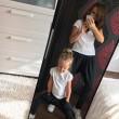 2Zestaw spodnie dla mamy i córki - Karmel