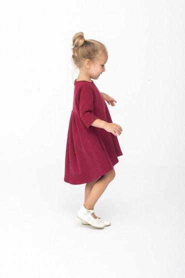Sukienka z przedłuzonym tyłem - Burgund