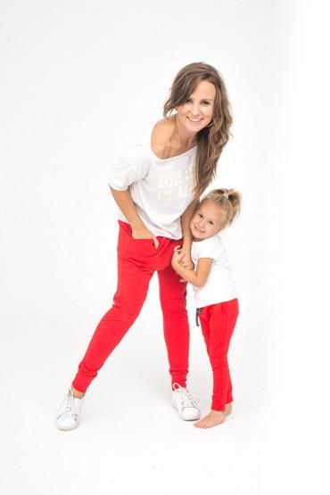 Spodnie dla mamy i córki typu baggy