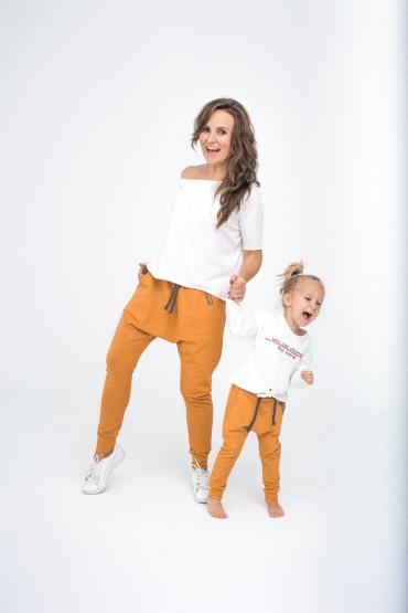 Spodnie dla mamy i córki/syna - Karmel
