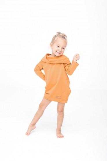 Dresowa tunika z kapturem dla dziewczynki