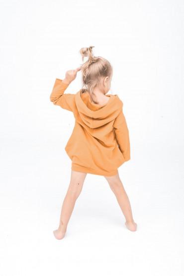Karmelowa tunika dla dziewczynki
