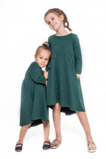 copy of Komplet sukienek z przedłużonym tyłem dla siostrzyczek