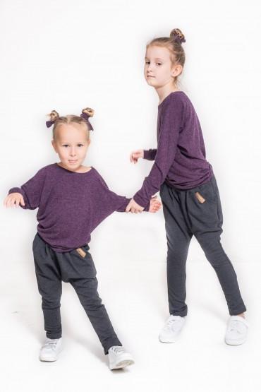Bluzka typu nietoperz dla dziewczynki
