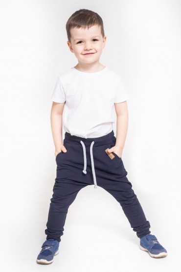 Spodnie baggy dla chłopca / dziewczynki - Dark Blue