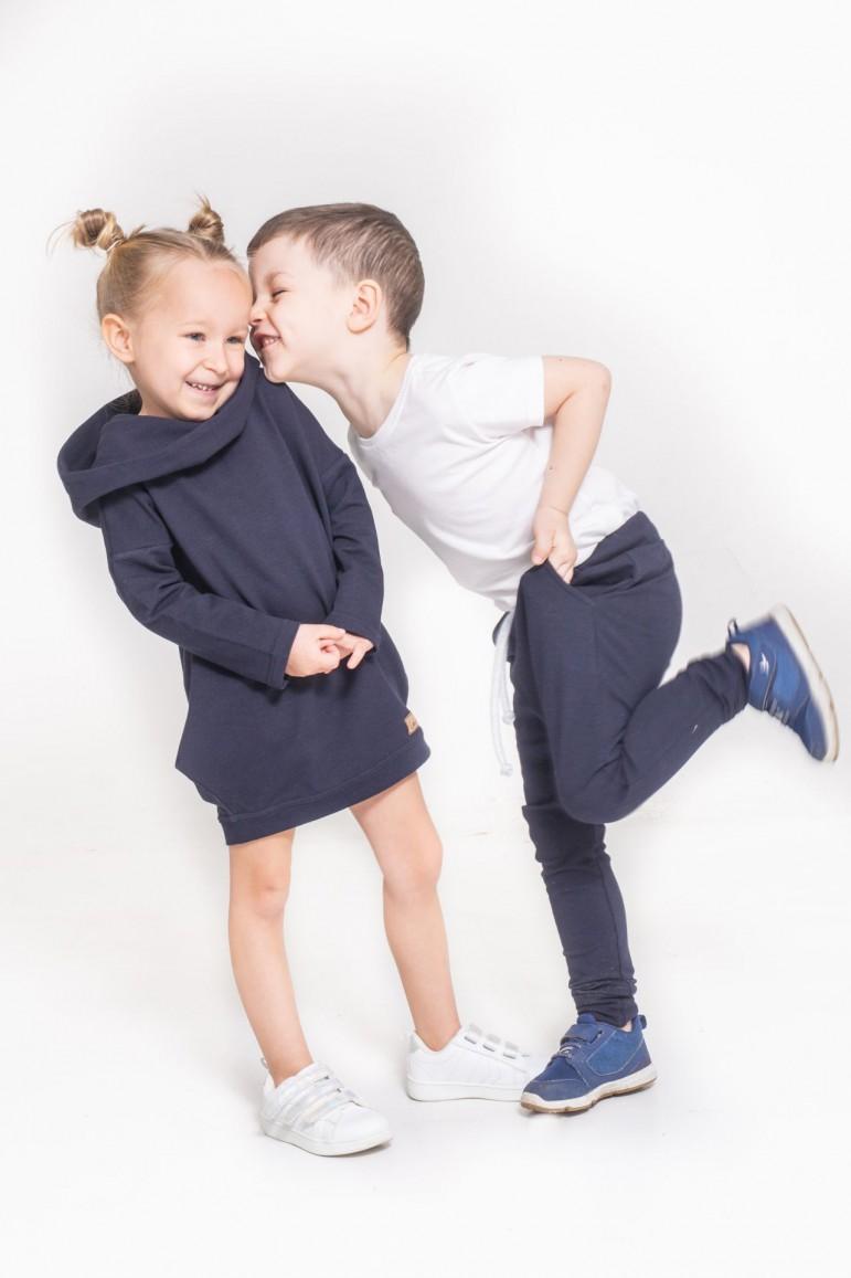 2Spodnie baggy dla chłopca / dziewczynki - Dark Blue