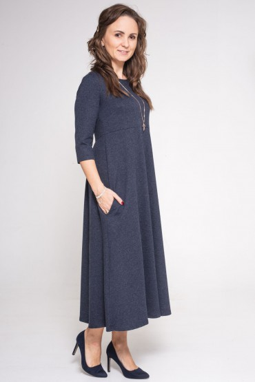 Sukienka damska midi - Granat