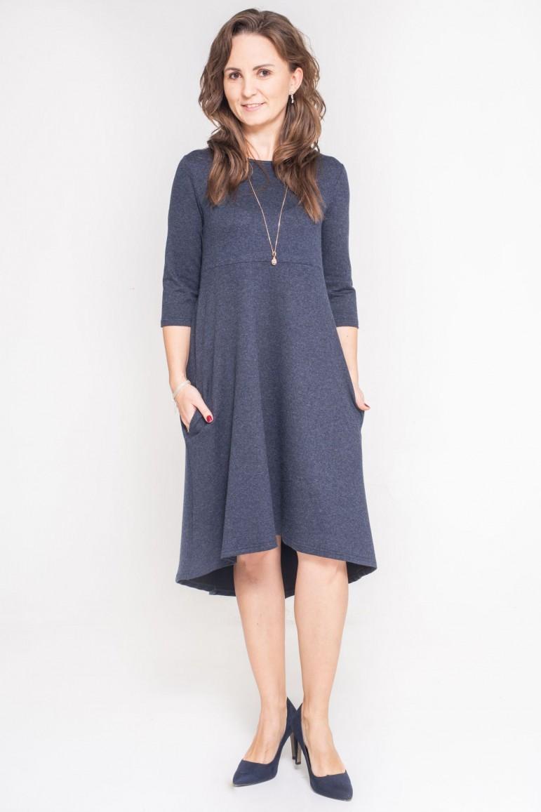 2copy of Sukienka z przedłużonym tyłem - Burgund