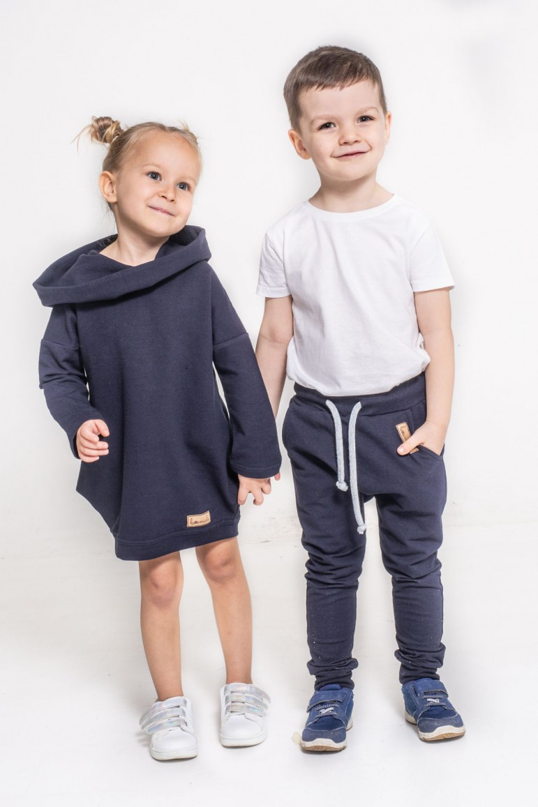 2Zestaw ubrań dla brata i siostry - Dark Blue