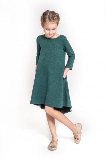 Sukienka z przedłużonym tyłem - Green