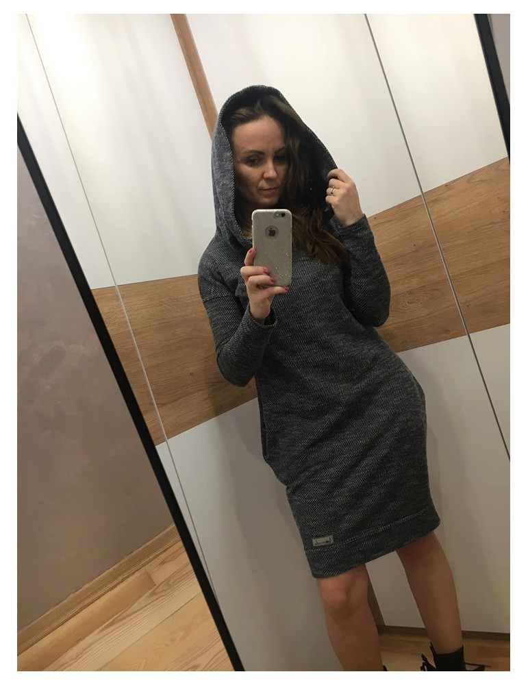2Women's hooded tracksuit tunic