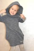 2Tuniko - sukienka dla dziewczynki - sweterkowy melanż