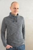 2Męska bluza z kominem - swetrowy melanż