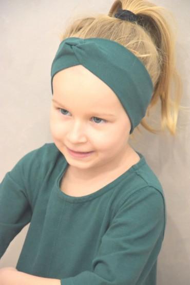 Opaska na głowę dla dziewczynki  - zielona