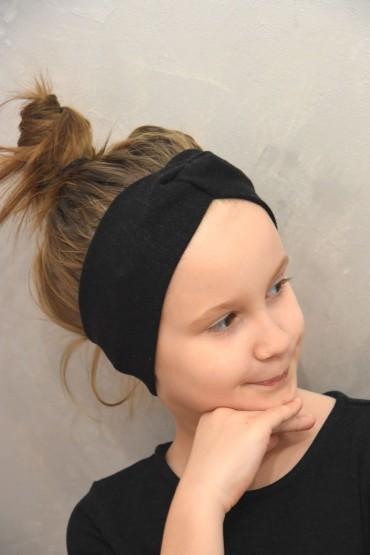 Opaska na głowę dla dziewczynki  - czarna