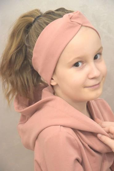 Opaska na głowę dla dziewczynki  - pudrowy róż
