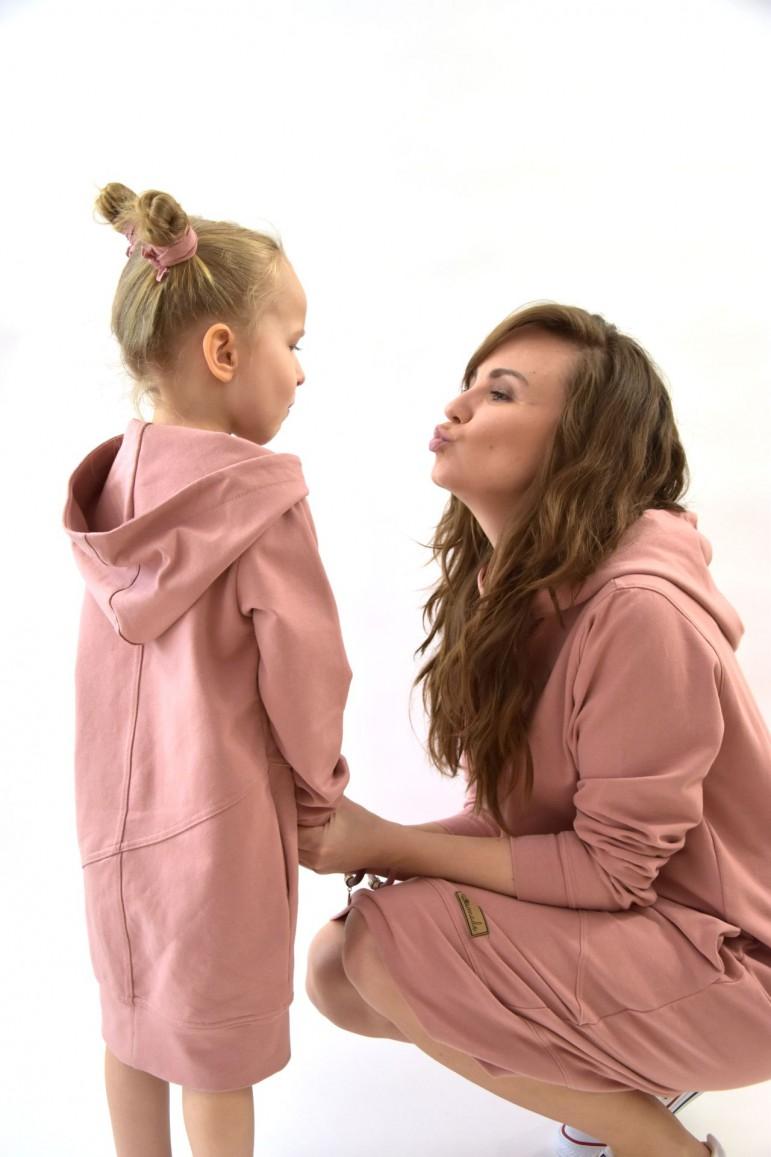 2Komplet przedłużonych bluz dla mamy i córki