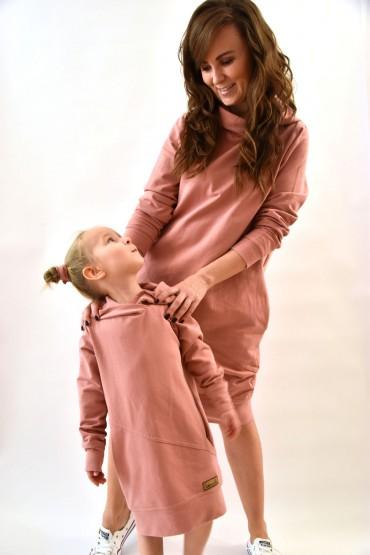 Komplet przedłużonych bluz dla mamy i córki