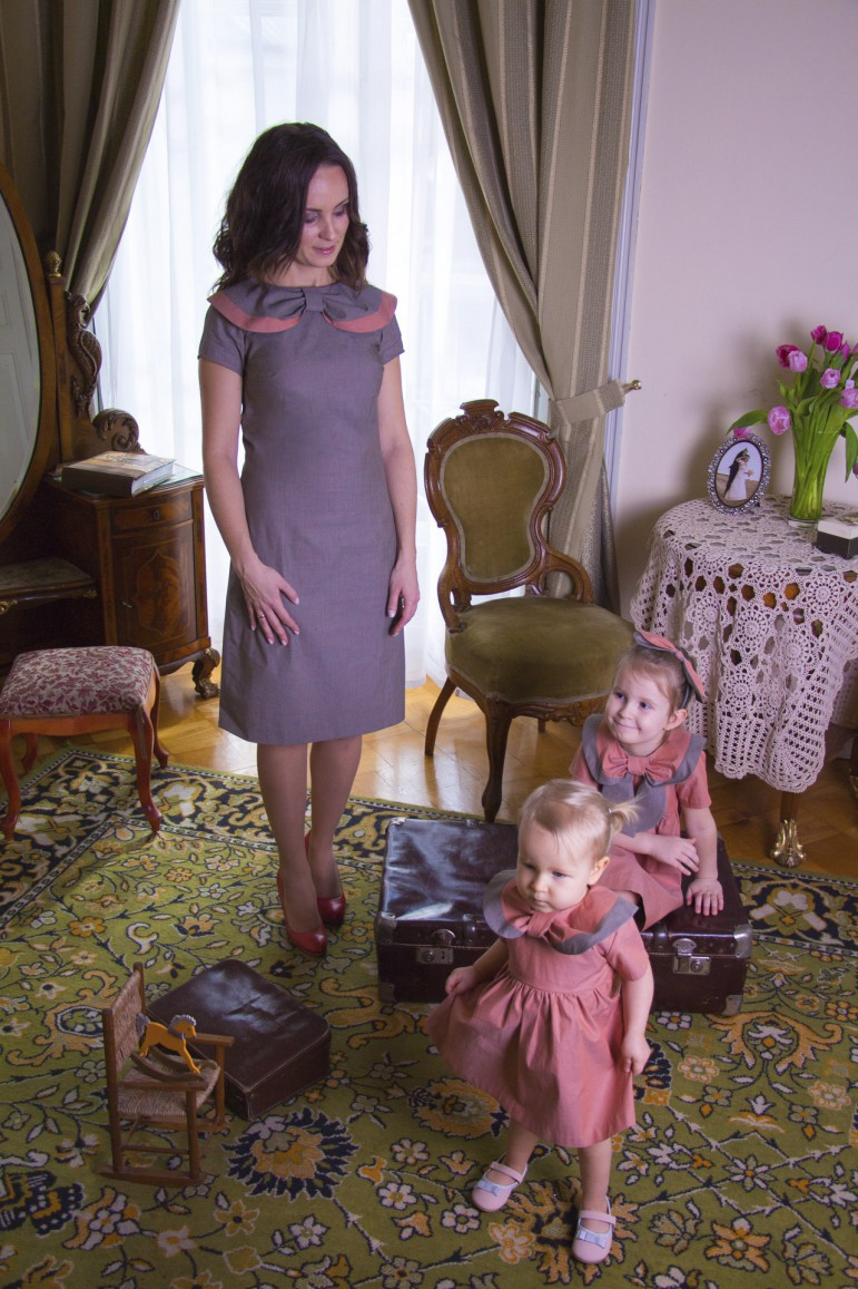 2The Retro dress set for mother and daughter