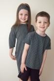2Zestaw dla brata i siostry - T shirt i tunika w kropki