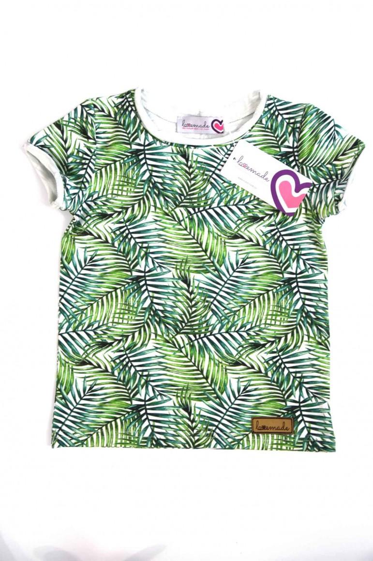2copy of T shirt dla chłopca - beżowy w kropki