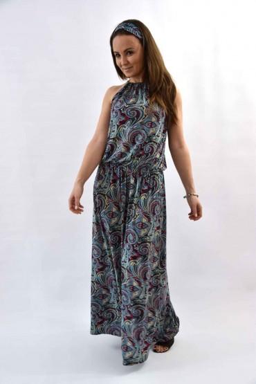Sukienka damska maxi - wzór Etno