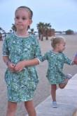 2Komplet tunik dla siostrzyczek - Palmy