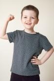 2T shirt dla chłopca - szary w kropki