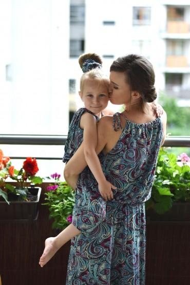 Sukienki dla mamy i córki - wzór Etno