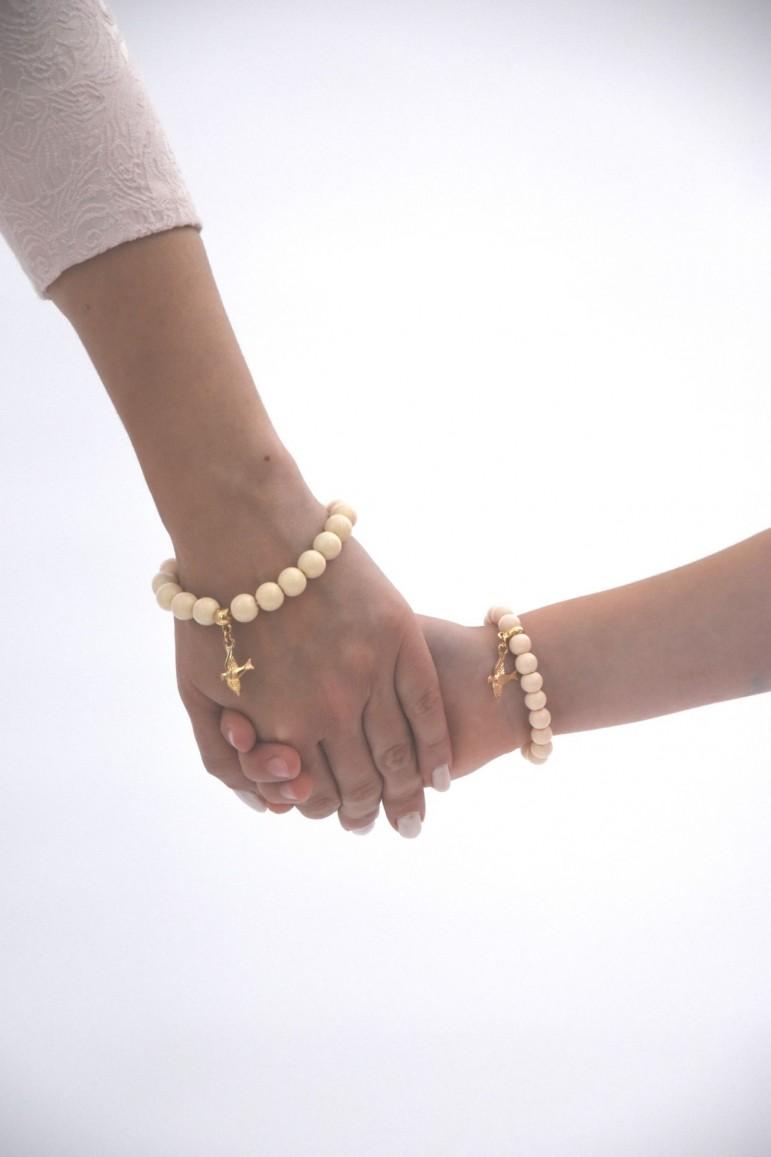 "2Komplet bransoletek dla mamy i córki ""z chwostem"""