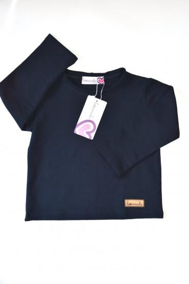 Koszulka z długim rękawem unisex - dla chłopca i dziewczynki - DARK BLUE