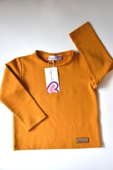 Koszulka z długim rękawem unisex - dla chłopca i dziewczynki - Karmel