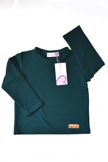 Koszulka z długim rękawem unisex - dla chłopca i dziewczynki - We feel green