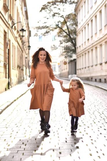 copy of Sukienki dla mamy i córki z kieszeniami - zielone