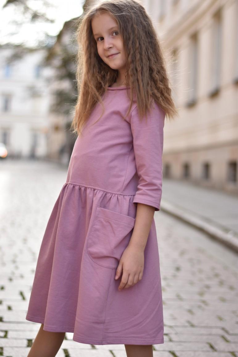 2copy of Dzianinowa sukienka z kieszeniami - zielona