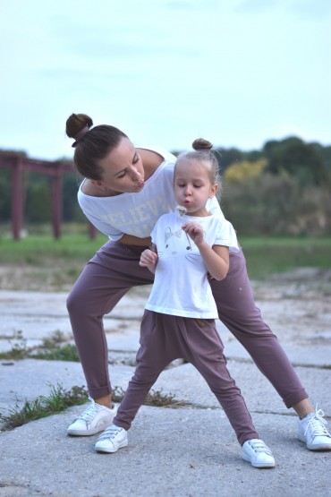 copy of Zestaw spodnie dla mamy i córki - Karmel
