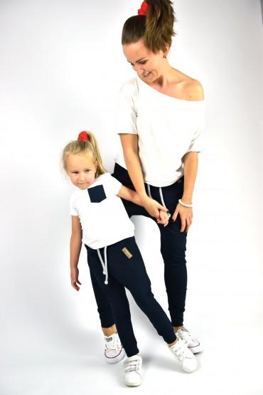 Spodnie dla mamy i córki lub syna - Dark Blue