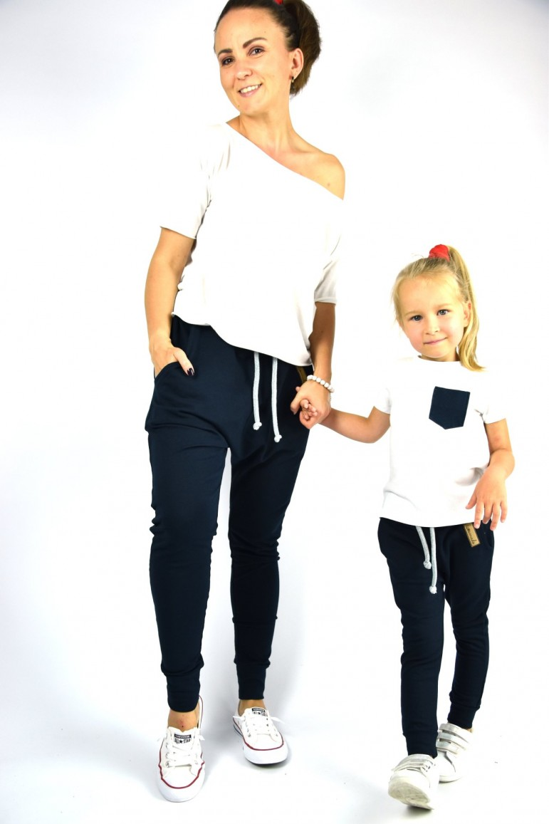 2Spodnie dla mamy i córki lub syna - Dark Blue