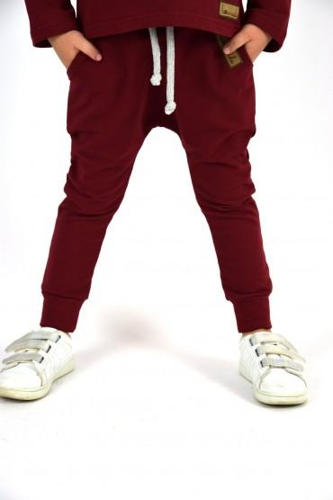copy of Spodnie baggy dla chłopca i dziewczynki - czerwień